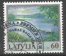 LV 2001-544 EUROPA CEPT, LATVIA, 1 X 1v, Used - Europa-CEPT