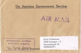 29648. Carta Aerea Service KINGSTON (Jamaica). Postmaster General - Jamaica (1962-...)