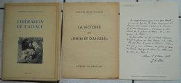 Ww2 Général De Lattre De Tassigny Libération De L'Alsace Braun Et Cie 24 Clichés Imprimés 3 Placards Rhin Et Danube - 1939-45