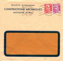 France Société Alsacienne De Construction Mécanique  Perforé M 10 3 1951 Mulhouse Sur Gandon (perfin) - France