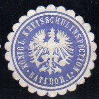 SIEGELMARKE GERMANY, RATIBOR - KÖNIGLICHE KREISSCHULINSPECTION - Fantasy Labels