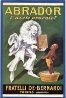 CPA Publicité Publicitaire Réclame écrite ABRADOR Torino Turin Italie Négritude - Advertising