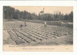 40 LANDES TYPES LANDAIS SECHAGE DE LA RESINE COMMERCIALE CPA BON ETAT - France