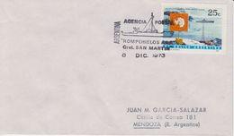 "Argentina 1973 Ship ""Rompehielos"" Gral. San Martin Ca 8 Dic 1973 Cover (40091) - Poolshepen & Ijsbrekers"