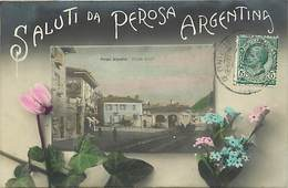 Pays Div - Ref M604- Argentine - Argentina - Saluti Da Perosa - Carte Bon Etat - - Argentine