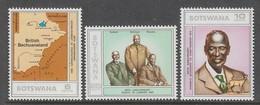 SERIE NEUVE DU BOSTWANA - ANNIVERSAIRES N° Y&T 292 A 294 - Botswana (1966-...)