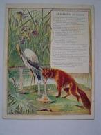 TEMOIGNAGE DE SATISFACTION / ILLUSTRATION FABLE LE RENARD ET LA CIGOGNE / ECOLE MARSEILLE 1928 - Diploma & School Reports
