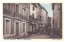 Cpa Bessan - Rue De La République - France