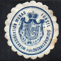 SIEGELMARKE AUSTRIA-HUNGARY, MURAU - FURSTL SCHWARZENBERG WERKSDIREKTION - Viñetas De Fantasía
