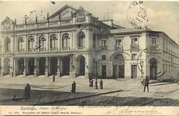 Pays Div - Ref M593- Chili - Chile - Santiago , Teatro Municipal - Carte Bon Etat  - - Chile
