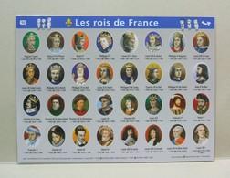 Les ROIS De FRANCE, Les PRESIDENTS De La REPUBLIQUE Fiche Plastifiée N°10 Aedis 2014 - Storia