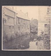 PONT-L'EVEQUE  -  Cliché Artistique Sur Carton De Vieilles Maisons Au Bord D'une Rivière  -  Voir Description - Pont-l'Evèque
