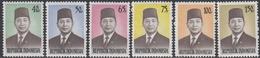 Indonesia 1974 - Definitive Stamps Set: President Suharto - Mi 780-785 ** MNH - Indonesia