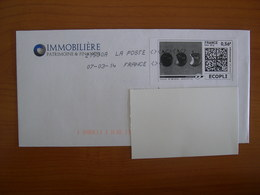 Montimbenligne  Sur Enveloppe 90 X 180 Pommes NB - Sellos Personalizados