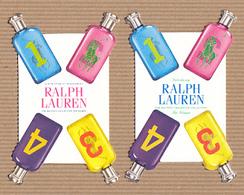 CC Carte Parfumée 'RALPH LAUREN' 1234 Perfume Card BLOTTER X 2 - Modern (from 1961)