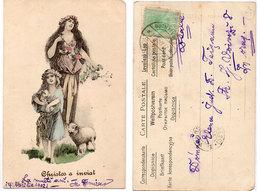 Femme , Enfant Et Moutons - Christoss A Inviat - Genre Viennoise  (108838) - Künstlerkarten