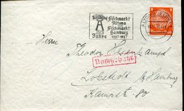 37054 Germany Reich, Circuled Cover 1937 From Altona With Special Postmark Fiscchmarkt Hamburg 1937 - Germany