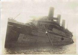 Incendie Du Paquebot Atlantique 1933,photo Meurisse - Boats