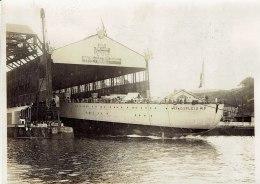 Le Lancement à Brest Du Croiseur Dupleix En Présence Du Président De La République En 1930,photo Meurisse - Boats