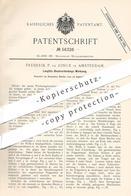 Original Patent - Frederik P. De Jonge , Amsterdam , 1890 , Werkzeug Für Langfalz - Blechverbindung   Blech , Metall !!! - Historical Documents