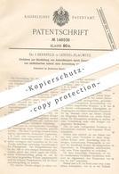 Original Patent - Dr. J. Bernfeld , Leipzig / Plagwitz , 1901 , Herstellung Von Asbestkörper Ohne Bindemittel   Asbest ! - Historical Documents