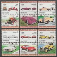 SERIE NEUVE DE SAINT-VINCENT - AUTOMOBILES N° Y&T 682 A 693 - Cars