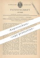 Original Patent - Rudolph Grevenberg , Bremen , 1885 , Reinigungsmasse Zum Entschwefeln Von Gas   Chemie   Schwefel !! - Historical Documents