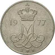 Monnaie, Danemark, Margrethe II, 10 Öre, 1977, Copenhagen, TB+, Copper-nickel - Denmark