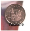 @Y@   Spanje  1 - 2 - 5   Cent  2002  UNC       MOEILIJK - Spain