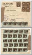 Hungary,  Cenzurstelle Cover Hyper Inflation 1946 From Budapest To Wien , With 35 X Stamp - Briefe U. Dokumente