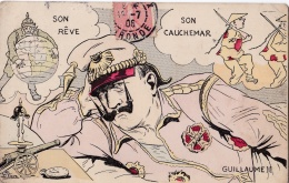 "Carte Humoristique Guillaume   ""  Son Rève ... Son Cauchemar  "" - Humour"