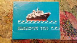 USSR-Embarkation Card Black Sea Steamship Company 1960s TBILISI SHIP - Boat