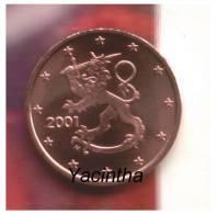 @Y@  Finland  1 - 2 - 5 Ct  2001  Unc - Finlande