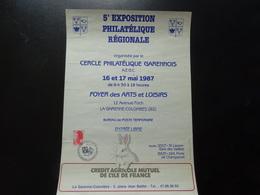 La Garenne Colombes 5 ème Exposition Philatélique Régionale Des 16 Et 17 Mai 1987 - Posters