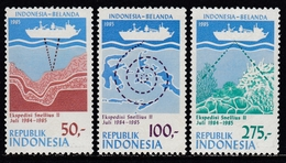 Indonesia 1985 - Indonesia-Belanda Expedition - Mi 1160-1162 ** MNH - Indonesia