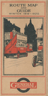 082/27 - UK - LONDON MOTORBUSSES GENERAL - Route Map And Guide Winter 1919 / 1920 - 15 Pages + Map - Europe