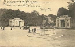 """Bruxelles : Entrée Du Bois Et Statue 'Les Lutteurs à Cheval"""", Par De Lalaing - Ixelles - Elsene"""
