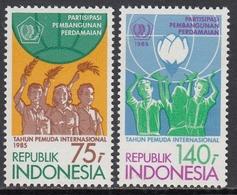 Indonesia 1985 - International Youth Year - Mi 1171-1172 ** MNH - Indonesia
