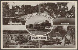 Multiview, Just Arrived At Paignton, Devon, 1949 - Postcard - Paignton