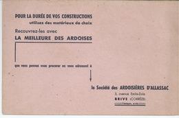 Ardoisieres D'allassac (correze)-buvard - Blotters