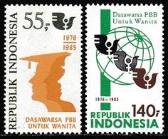 Indonesia 1985 - United Nations Women's Decade - Mi 1173-1174 ** MNH - Indonesia