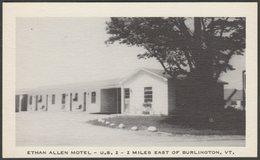 Ethan Allen Motel, Burlington, Vermont, C.1940 - National Press Inc Postcard - Burlington