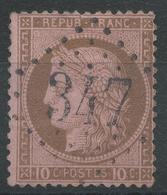Lot N°44209  Variété/n°54, Oblit GC 347 Les Batignolles, Seine, (60), Fond Ligné Horizontal - 1871-1875 Cérès