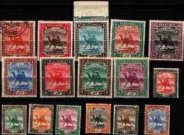 71772)  SOUDAN Lotto Francobolli Dal 1903-22 SERIE CORRENTE- -16 V.. N. 18-19-20-21-22-23-2427-28-e Dal 29/35--MLH* - Sudan (1954-...)