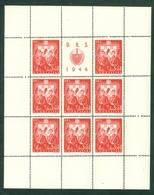 Croatia NDH 1944 Labor Service Sheet For Face Value 3,50+1 Kuna Line Perf. 14 1/2 - Croazia