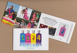 CC Carte Parfumée 'RALPH LAUREN' 1234 WOMAN Perfume Card  BOOKLET PATCHS X 4 - Modern (from 1961)