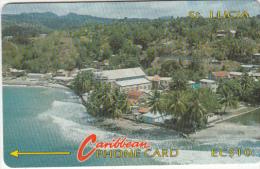 ST. LUCIA ISL.(GPT) -  Coastline(no Logo), CN : 7CSLA, Tirage 20000, Used - Saint Lucia