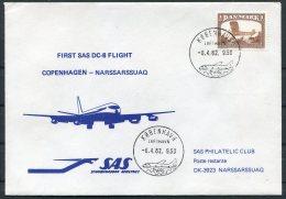 1982 Denmark SAS First Flight Cover - Greenland - Luchtpostzegels