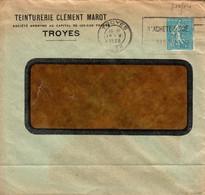 France Teinturerie Clément Marot Perforé T.M. 18 5 1938 Troyes Sur Type Semeuse (perfin) - France