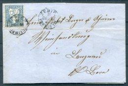 1864 Switzerland Entire Zurich Langnau - 1862-1881 Helvetia Assise (dentelés)